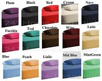 "Extra Deep Fitted Bed Sheet Single Double King Super King 40cm 16"" Matress Sheet"