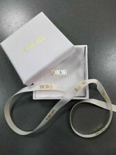 "New Dior Gold Accessories Empty Box with Linen pouch, ribbon 3.5""x 3.5"""