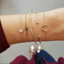 Best Luxary Bohemian Stone bead chain bracelet Women Cuff Fashion Jewelry
