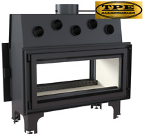 Mila 16 Tunnel-Double face Log/Bois Burning Cheminée insert/CASSETTE - 16 kW