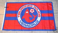 Veracruz Flag Banner 3x5 ft Tiburones Rojos Mexico FC Futbol Soccer Bandera