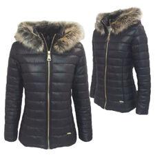 PIUMINO donna giubbotto giubbino giacca invernale cappuccio eco pelliccia