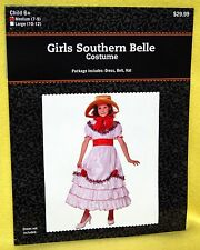Youth Girl Costume - White & Red Southern BELLE Dress Costume Sz L (10-12) NEW