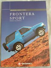 Vauxhall Frontera Sport range brochure 1998 Ed 1