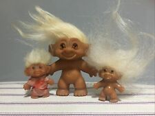 More details for vintage - dam trolls - 2 pencil toppers - marked 1965 - & one 1960's