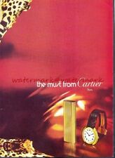 CARTIER CIGARETTE LIGHTER - Original 1970s ADVERT. Free UK Post