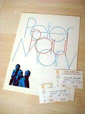 Peter Paul & Mary Royal Albert Hall London UK Tour Programme + 2 Tickets 1970 EX