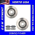 Front Kit Brake Rotors & Pads For Acura Legend 1987-1990 3184X2-VS409
