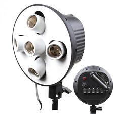 Made of China E27 5in1 5 Bulb Socket Light Lamp Holder Adapter for Studio Light