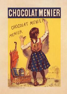Chocolat Menier by Fermin Bouisset 90cm x 64cm Art Paper Print