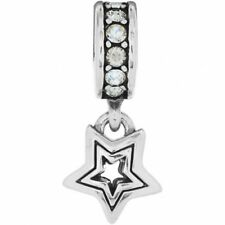 New Brighton SHOOTING STAR Clear White Spacer Charm Bead  Rare  RETIRED