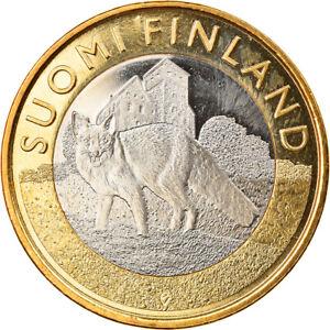 [#364955] Finlande, 5 Euro, Finland Proper, 2014, Proof, FDC, Bi-Metallic