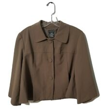 NWT George Women's Size 12 Brown 3/4 Sleeves  Button Dress Jacket