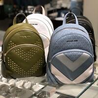 Michael Kors Womens Medium Leather Travel Backpack Bag White Green Blue Black MK