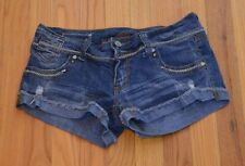 "Almost Famous Women's Distressed Denim Cutoff Shorts Blue Size 5 (28"" Waist)"