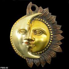 Handmade Home decor Brass Wall Hanging Sun Moon Half Face For Wall