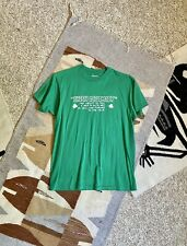 Vintage 90s Kelly Green White Irish Diplomacy T Shirt by Hanes 50/50 size L