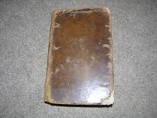 1774 Las Eroticas Erotic Translation of Boecio/Boethius in Spanish, leather book