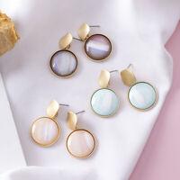 Fashion Women Texture Geometric Round Drop Earrings Stud Ear Wedding Jewelry TOC