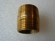 1 inch NTP Brass Pipe Nipples, Schedule 40, Qty 20  (New)