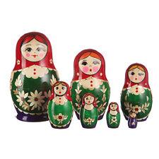 Russian Nesting Dolls Nolinsk Matryoshka / Matreshka 7 pc set inlaid 5.3''