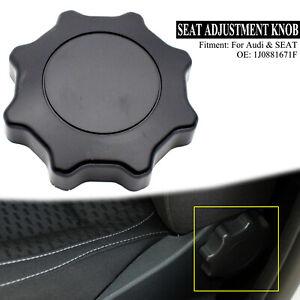 Black For Audi A6 C5 A4 B6 Seat Adjustment Knob Adjuster Handle Backrest Recline