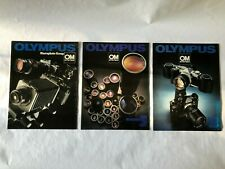 Lot of Six OLYMPUS MANUFACTURERS BROCHURES - Lenses, Motor Drive, Macro + other
