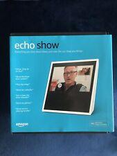 Amazon Echo Show (1st Generation) Smart Speaker with Alexa Assistant - White