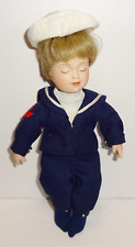 Danbury Mint J Belle 1990 Blonde Porcelain Sleeping Sailor Little Boy Doll
