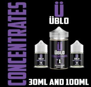 Ublo Numbers e liquid Concentrate  Premium E Liquid  No Nicotine DIY VAPE