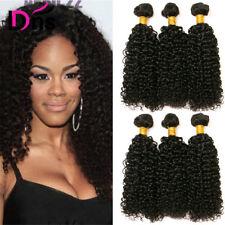 Kinky Curly Brazilian Virgin Human Hair Extension Weft 300g 3 Curly Bundles 300g