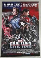 *Rare* Captain America: Civil War | original DS movie poster 27x40 | Marvel IMAX