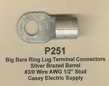 2 Bare Ring Lug Brazed Barrel Terminal Connector 30 Wire Awg 12 Stud Molex
