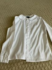 Girl French Toast Long Sleeve button up white shirt - size 7