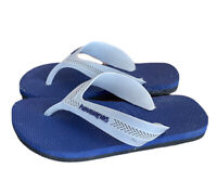 Havaianas Unisex 13 29 Youth Blue Two Tone Striped Flip Flops Shoes Boys Girls
