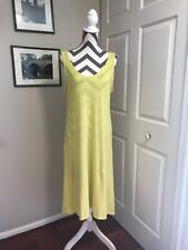 Eileen Fisher Sleeveless Yellow Maxi Dress Small S