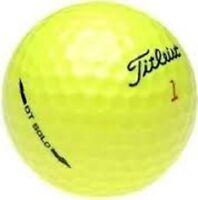 50 Titleist DT SOLO NEAR MINT YELLOW Golfballs Used Golf Balls