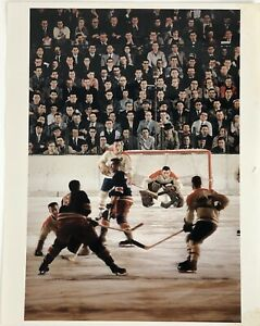 VINTAGE 1957 SPORTS ILLUSTRATED PHOTO NHL JACQUES PLANTE MONTREAL CANADIENS
