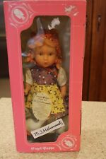 """Engel-Puppe M.J. Hummel Vinyl Doll Goose Girl With Geese 12"""" Germany New in Box"""