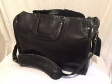 Luxury leather Glaser Designs litgation bag/briefcase w/accessories+folding cart