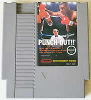 Mike Tyson's Punch Out -- NES Nintendo Original Game RARE White Bullets Label