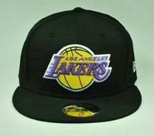 brand new bb134 86dec New Era 5950 LOS ANGELES LAKERS NBA Basketball Fitted Hat Cap NWT Size 7 1