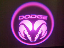 2PC PINK DODGE 5W LED EMBLEM DOOR PROJECTOR GHOST SHADOW PUDDLE LOGO LIGHT