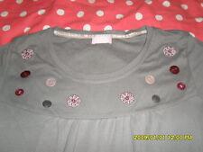 EARLY 20 Langarm SHIRT grau lila Knöpfe Stickerei Gr.44/46 >bitte nach Maß NEU