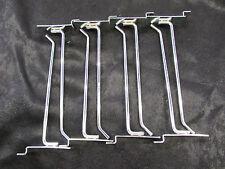 "8"" Slatwall Metal Peg Hooks Chrome Plated (Lot Of 8) *Nnb*"