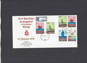 1978 Energy RAF Bruggen FDC Forces Post Office 62 registered CDS 1 of 100 covers