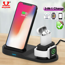 For Samsung S10 iPhone Watch Nokia 10W + Qi Wireless Charger Fast Charging Stand
