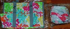 Lot 2 NEW THIRTY ONE Organizing Utility Tote with Monogram ~M~/Keep-It-Caddy