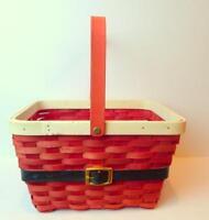 Santa Basket Christmas Holiday Fruit Foods Decor Gift Idea
