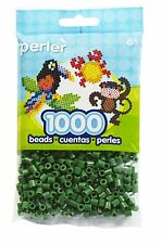 Bulk Buy: 5 x 1,000 Perler Dark Green Color Iron On Fuse Beads: 80-19010